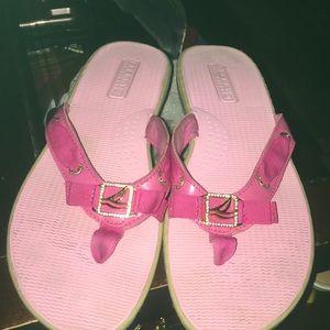 Sperry flips pink cute